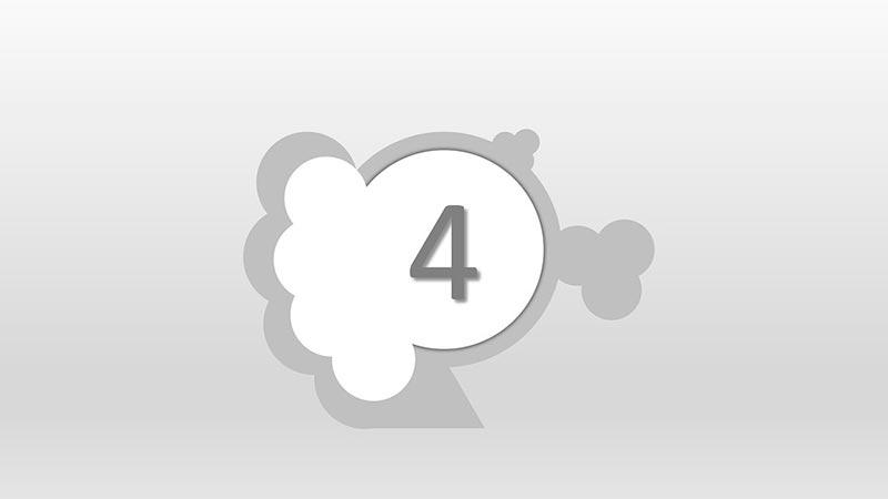 Interpretación del número 4