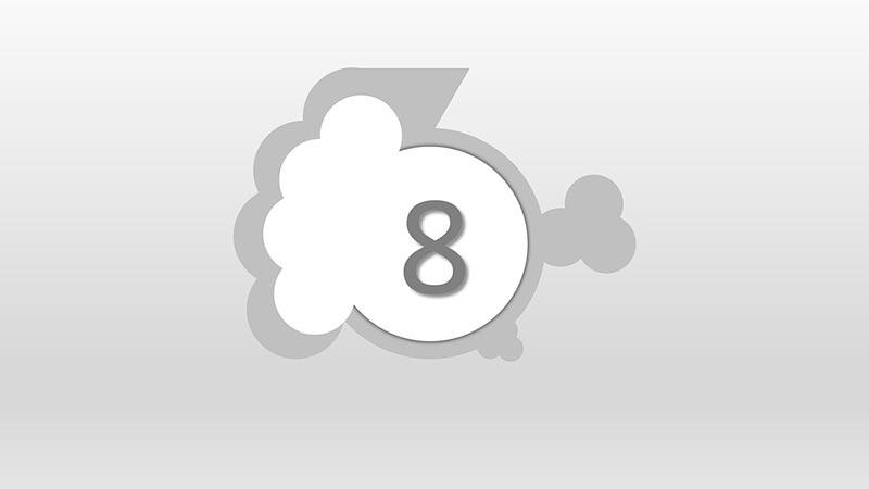 Interpretación del número 8