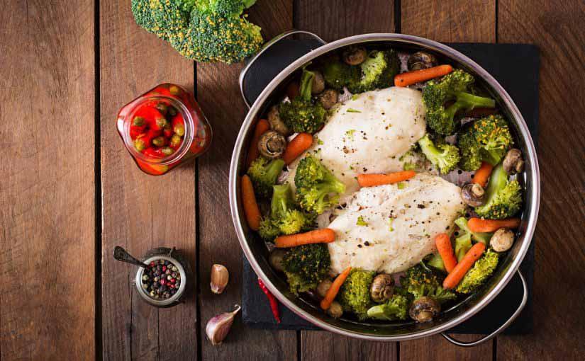 ¿Cuántas calorías tiene un pollo asado?