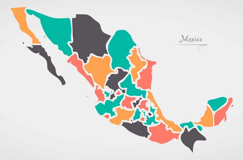 Estados De México: Cuantos Estados Hay En Mexico 191 Cu 225 Ntos Estados Hay