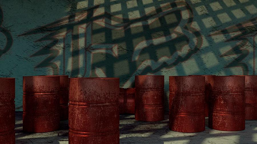 Número de litros en los barriles de petróleo