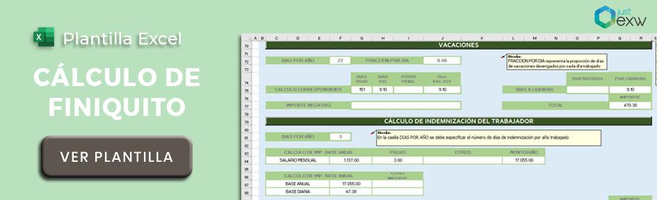 Calcular el finiquito en Excel